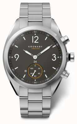 Kronaby Mens apex 41 bluetooth aço inoxidável relógio preto de discagem A1000-3113