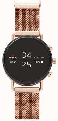 Skagen Falster 2 gen 4 relógio inteligente subiu malha de ouro SKT5103