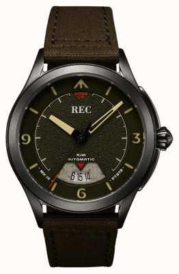REC | pt879 mk ix spitfire | tira de lona | relógio automático | RJM-03