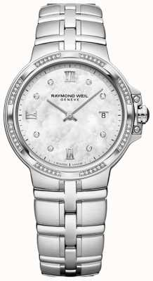 Raymond Weil Parsifal ladies quartz classic | 56 diamantes | madrepérola 5180-STS-00995