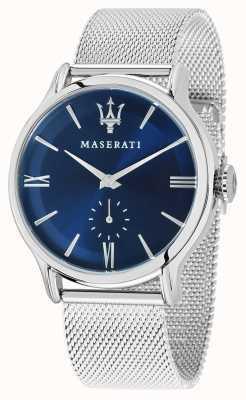 Maserati Mens epoca 42mm | mostrador azul | pulseira de malha de prata R8853118006