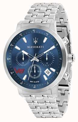 Maserati Mens gt 44mm | mostrador azul | pulseira de aço inoxidável prata R8873134002