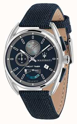 Maserati Temporizador de tracção Trimarano 41 | mostrador azul | pulseira de tecido azul R8851132001