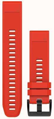 Garmin Chama de borracha vermelha cinta quickfit 22mm fenix 5 / instinto 010-12496-03