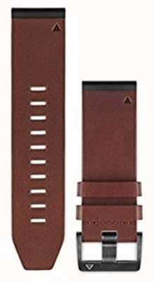 Garmin Pulseira de couro marrom quickfit 26mm fenix 5x / tactix charlie 010-12517-04