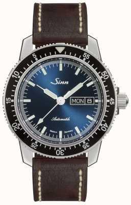 Sinn 104 sa ib | pulseira de couro marrom vintage marrom escuro 104.013-BL50202002007125401A