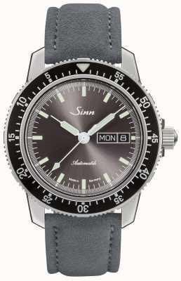 Sinn 104 st sa ia | pulseira de couro cinza camurça 104.014 SUEDE GREY