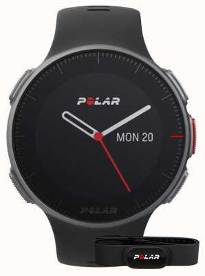Polar Vantage v (com hr strap) treino multiesportivo preto gps 90069634