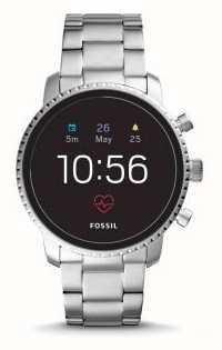 Fossil Conectado q explorador hr relógio inteligente de aço inoxidável FTW4011