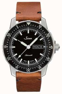 Sinn St sa i clássico relógio de couro vintage couro de piloto 104.010-BL50205002401A