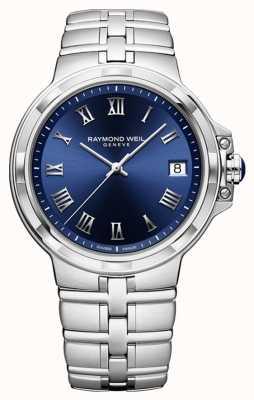 Raymond Weil Parsifal classic blue dial pulseira relógio 5580-ST-00508