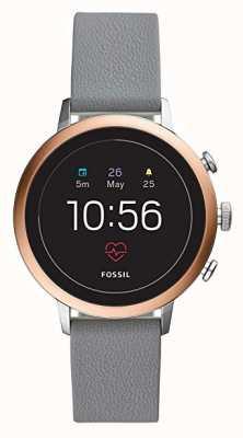 Fossil Conectado q venture hr relógio inteligente pulseira de silicone cinza FTW6016