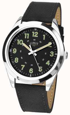 Limit | mens | pulseira de couro preto | 5950.01