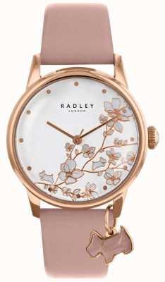 Radley Womens | flor de fuga | pulseira de couro rosa RY2692