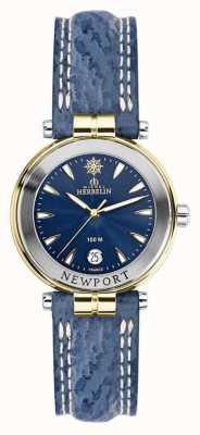 Michel Herbelin Womens newport pulseira azul banhado a ouro 14255/T35