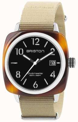 Briston Hms data aço 40 tartaruga preto de acetato discar 13240.SA.T.1.NK