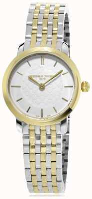 Frederique Constant | mulheres | dois tons slimline | relógio de metal | FC-200WHS3B