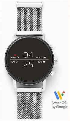 Skagen Malha de aço inoxidável conectado smartwatch SKT5102