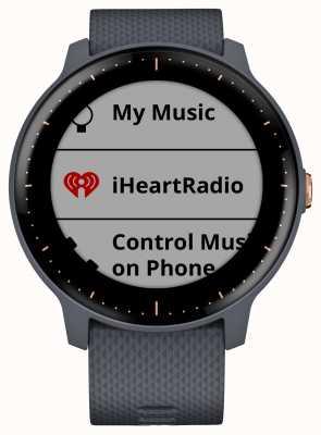Garmin Vivoactive 3 música hr gps granito azul rosa ouro smartwatch 010-01985-32