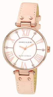 Anne Klein | relógio de assinatura das mulheres | couro nu | 10-N9918RGLP