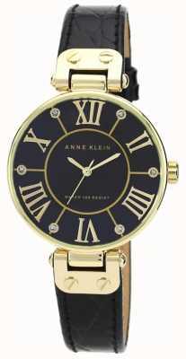 Anne Klein | relógio de assinatura das mulheres | preto e ouro | AK-N1396BMBK