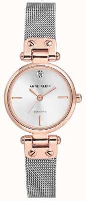 Anne Klein | relógio de cabo para mulher | tom de prata | AK/N3003SVRT