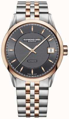 Raymond Weil   mens relógio freelancer   aço inoxidável e ouro rosa   2740-SP5-60021