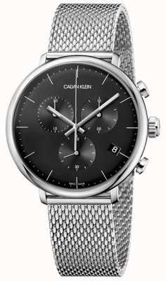 Calvin Klein | aço inoxidável do meio-dia dos homens | cronógrafo | K8M27121
