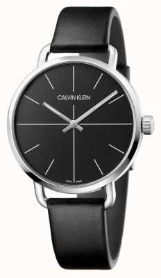 Calvin Klein   mens assistir mesmo   pulseira de couro preto   mostrador preto   K7B211CZ