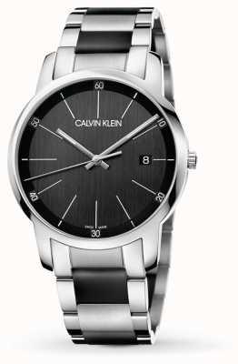 Calvin Klein | cidade dos mens | pulseira de aço inoxidável de dois tons | K2G2G1B1