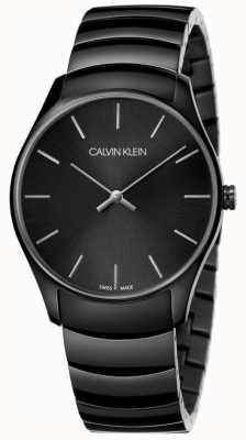 Calvin Klein | mens clássico de médio porte | pulseira de aço inoxidável preto | K4D21441