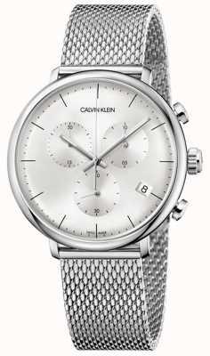 Calvin Klein | alça de aço inoxidável mens high noon | mostrador prateado | K8M27126