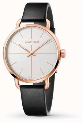 Calvin Klein   mesmo relógio de extensão   pulseira de couro preto   caso rosegold K7B216C6