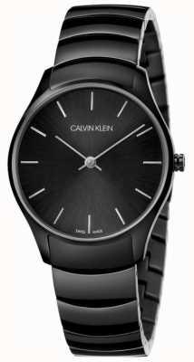 Calvin Klein   clássico também assistir   pulseira de aço inoxidável preto   K4D22441