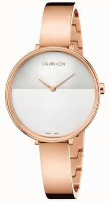 Calvin Klein | extensão de ascensão das mulheres | pulseira de ouro rosa | discagem de dois tons K7A23646
