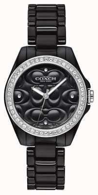 Coach | relógio esportivo moderno | rosto preto | alça preta | 14503255