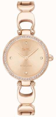 Coach | relógio do parque das mulheres | pulseira de ouro rosa rosto de ouro rosa | 14503172