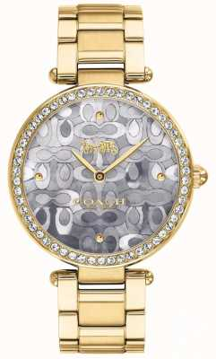 Coach   relógio do parque das mulheres   dois tons de prata e ouro   14503222