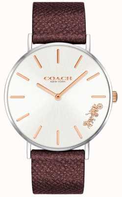 Coach | relógio de perry para mulher | pulseira de couro vermelho | 14503154