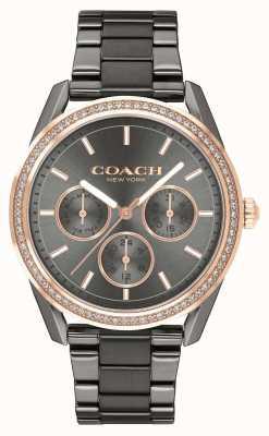 Coach | preston watch | relógio de aço inoxidável cronógrafo | 14503214
