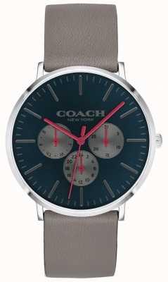Coach | relógio varick para homem | pulseira cronógrafo bege mostrador preto | 14602390
