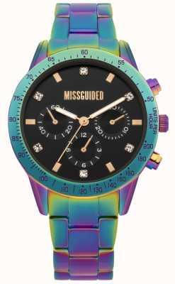 Missguided | relógio de senhora | aço inoxidável multicolorido | MG004UPM