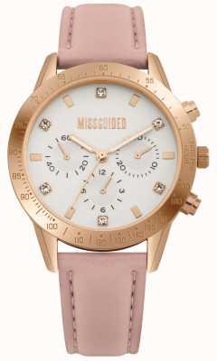 Missguided | senhoras assistem | pulseira de couro rosa | MG004PRG