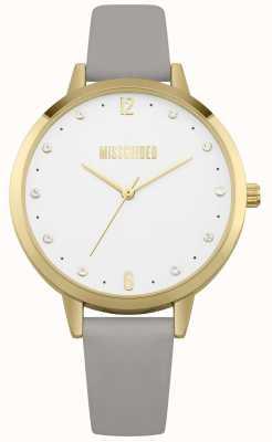Missguided | senhoras assistem | caixa de ouro pulseira de couro cinza | MG010EG