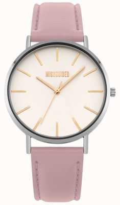 Missguided | senhoras assistem | pulseira de couro rosa mostrador branco | MG017P