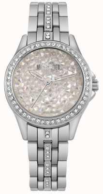 Missguided | senhoras relógio de aço inoxidável | mostrador de pedra de prata | MG013SM