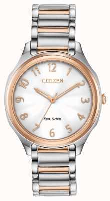 Citizen Pulseira de metal eco-drive de dois tons para mulher EM0756-53A