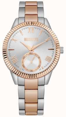 Missguided | bracelete de aço inoxidável de dois tons para mulher | mostrador prateado | MG006SRM