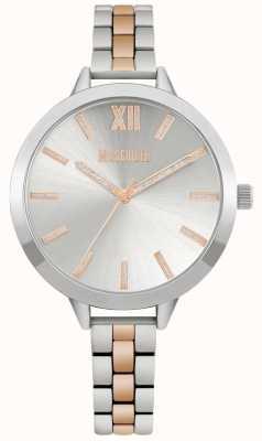 Missguided | bracelete de aço inoxidável de dois tons para mulher | mostrador prateado | MG005SRM