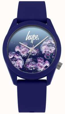 Hype | pulseira de silicone da marinha | mostrador de flores da marinha | HYU010U